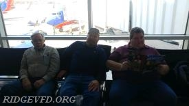 Engine 41 Committee Members waiting on their plane back home.