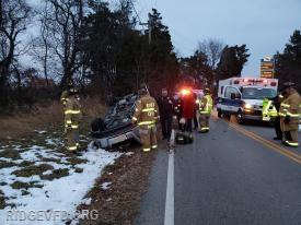 Vehicle Overturned - St. Mary's City
