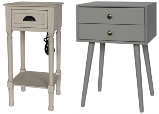 5) Recalled Style of J Hunt Home Accent Table with Charging Receptacle