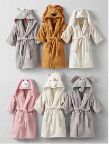 3) Animal, Heathered Plush and Luxe Sherpa Children's Bath Wraps