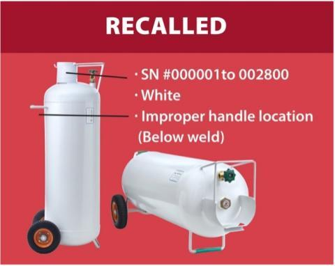 8) Hog 100-pound Propane Cylinders