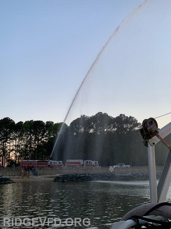 Engine 43 deck gun ops as seen from Boat 4