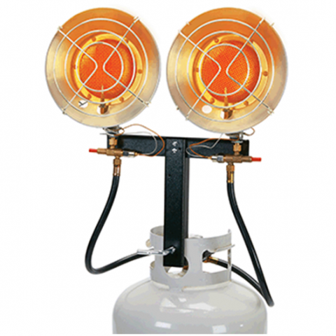 3) One Stop Gardens 15,000 (Item #63073) and 30,000 (Item #63072) BTU Tank Top Propane Heaters (Harbor Freight)