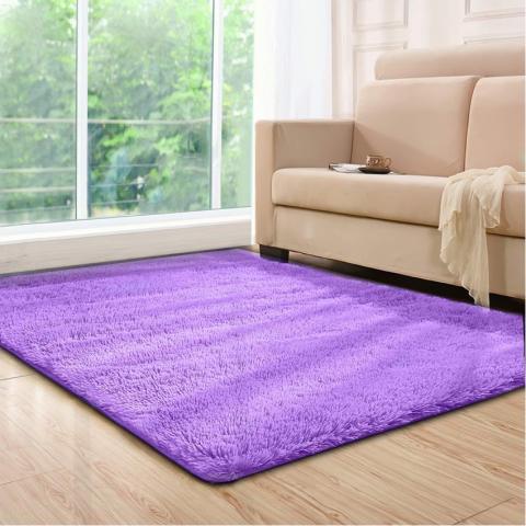 10) YOH Super Soft Purple Rugs