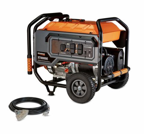 4) Generac® and DR® 6500 Watt and 8000 Watt portable generators
