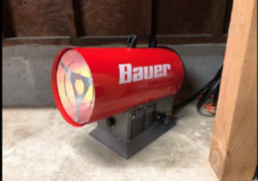3) Bauer Forced Air Propane Portable Heaters
